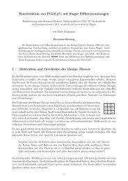 Konstruktion von PG(d,pk) mit Singer Differenzenmengen