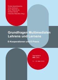Grundfragen Multimedialen Lehrens und Lernens. E ... - GML 2010