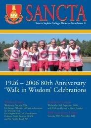 2006 80th Anniversary 'Walk in Wisdom' - Sancta Sophia College