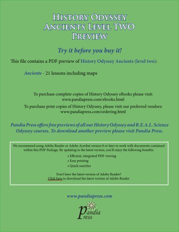 History Odyssey - Ancients (level two) eBook Preview - Pandia Press