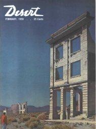 February - Desert Magazine of the Southwest