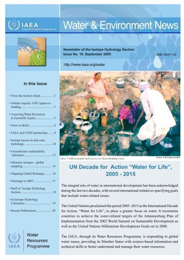Water for Life - Nuclear Sciences and Applications - IAEA