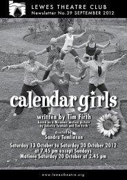 September 2012: Calendar Girls - Lewes Theatre Club