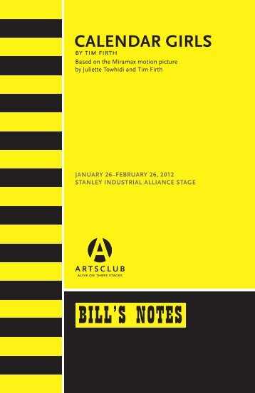 Bill's Notes: Calendar Girls - Arts Club Theatre Company