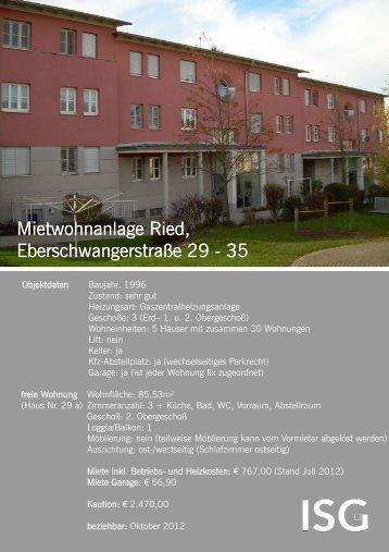 Mietwohnanlage Ried, Mietwohnanlage Ried - ISG