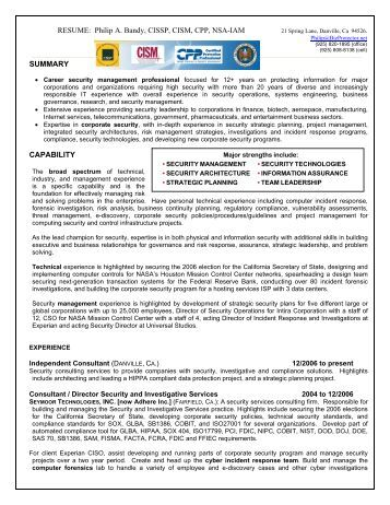 cissp resume exle 166 best images about resume templates and cv