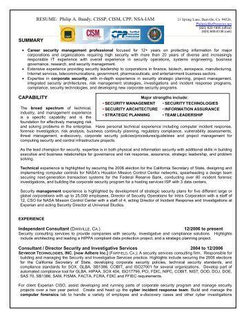 cissp resume format 28 images cissp cisa resume