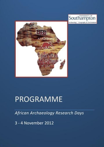 final programme pdf - African Archaeological Research Days ...