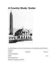 A Country Study: Sudan - Disasters and Conflicts