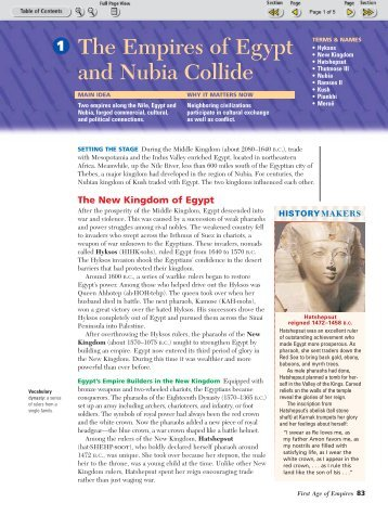 The Empires of Egypt and Nubia Collide 1 - New Braunfels ISD