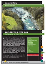 Wildlife THE GREEN RIVER INN fascination of an ... - Interspot Film