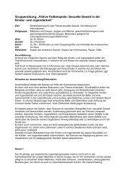 """Gruppenübung """"Fiktive Fallbeispiele: Sexuelle Gewalt in der Kinder ..."""