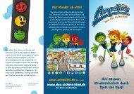 Flyer mit den Ampelinis - Mehr Sicherheit für Kinder