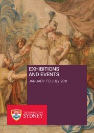 exhibitions and events - University of Sydney