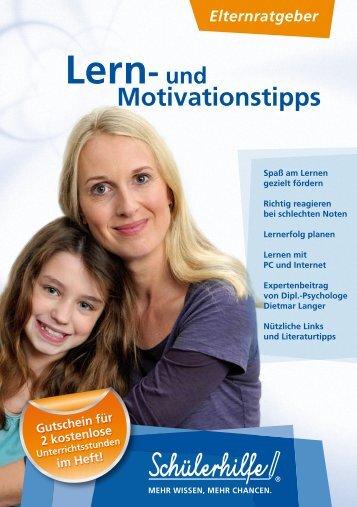 Lern- und Motivationstipps - Nachhilfe - Schülerhilfe