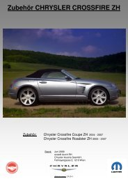 Zubehör CHRYSLER CROSSF CHRYSLER CROSSFIRE ZH