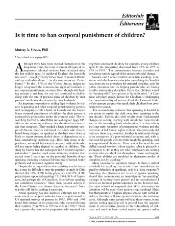a study on the frequency and the effects of corporal punishment across different institutes of khybe Article 1: in this convention, the term racial discrimination shall mean any distinction, exclusion, restriction or preference based on race, colour, descent, or national or ethnic origin which.