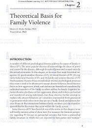 Theoretical Basis for Family Violence - Jones & Bartlett Learning