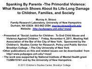 Spanking By Parents -The Primordial Violence ... - Brooklyn College