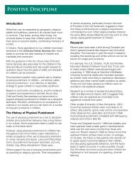 Positive Discipline Booklet - Bruce Grey Child and Family Services