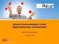 Ergebnischarts Interne Kommunikation - IGF