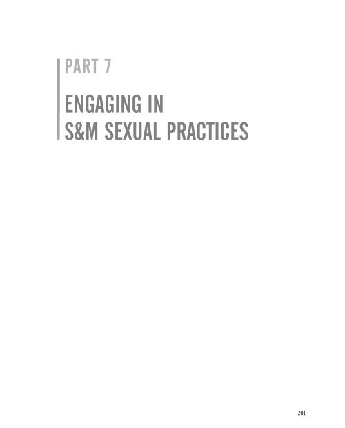 Part Vii Engaging In S M Sexual Practices Sage Publications