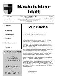 Sonntag, den 18. Oktober 2009 - Marktgemeinde Irnfritz-Messern