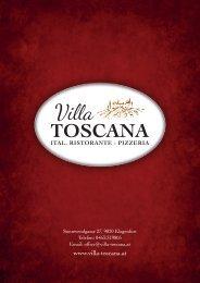 unsere Pizzen werden mit frischer Tomatensauce ... - Villa TOSCANA