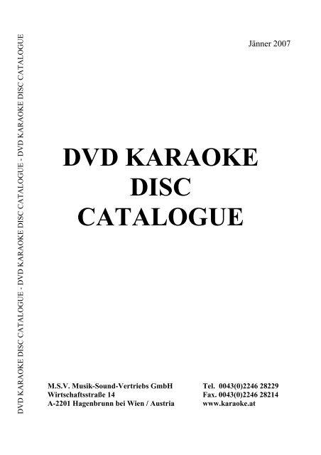 KARAOKE BRAVO HITS DVD VO