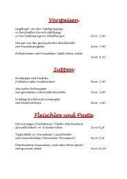Vorspeisen Suppen Fleischlos und Pasta - Hotel Restaurant ...