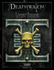 Deathwatch Living Errata - Fantasy Flight Games