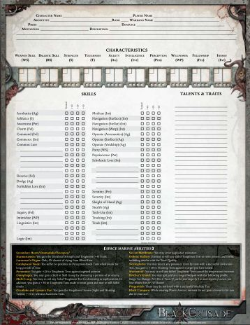advancements and alignment experience - Fantasy Flight Games
