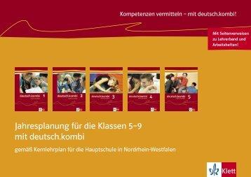 Jahresplanung für die Klassen 5–9 mit deutsch ... - Ernst Klett Verlag