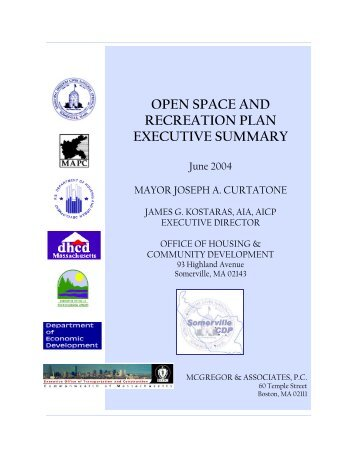 OPEN SPACE AND RECREATION PLAN ... - City of Somerville