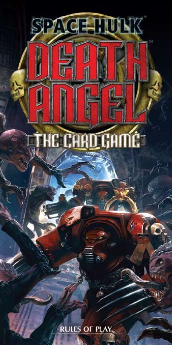 rules for Space Hulk: Death Angel - The Card - Fantasy Flight Games
