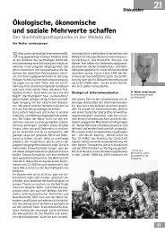 Ökologische, ökonomische und soziale Mehrwerte ... - Transfer-21