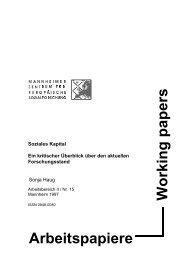 Soziales Kapital. - Mannheimer Zentrum für Europäische ...