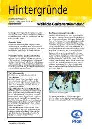 Weibliche Genitalverstümmelung - Plan Deutschland