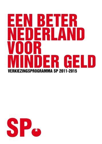 Verkiezingsprogramma SP (pdf)