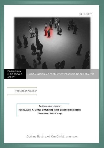 Ausarbeitung: Sozialisation als produktive Verarbeitung der Realität