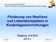 Prof. Dr. Klaus Fröhlich-Gildhoff & BA Sibylle Fischer ... - Plattform 10
