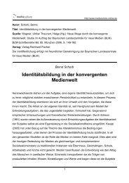 Identitätsbildung in der konvergenten Medienwelt - Mediaculture ...