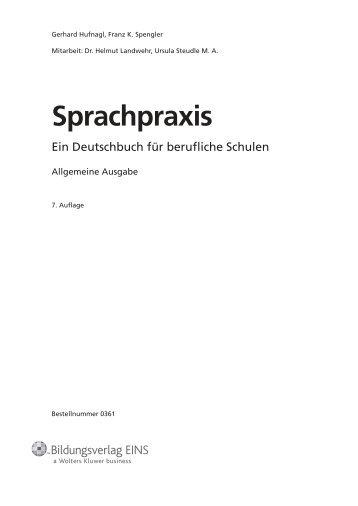 Sprachpraxis - Bildungsverlag EINS