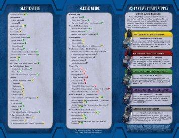 Fantasy Flight supply sleeve guide sleeve guide - Regina si Nebunul