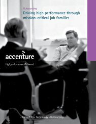 Driving high performance through mission-critical job families