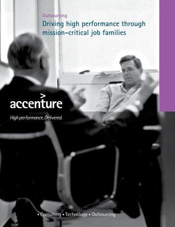 Driving high performance through mission-critical job families