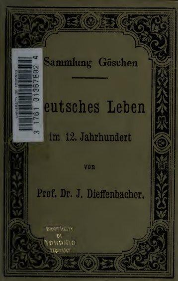Deutsches Leben im 12. Jahrhundert, kulturhistorische ...