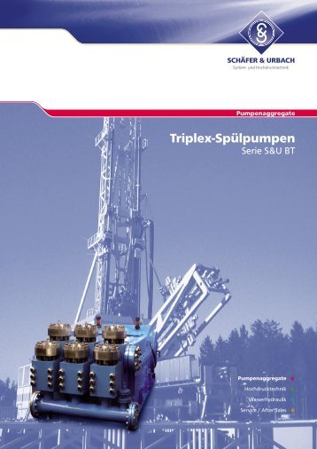 Triplex-Spülpumpen - SCHÄFER & URBACH