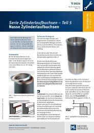 Serie Zylinderlaufbuchsen - MS Motor Service Deutschland GmbH