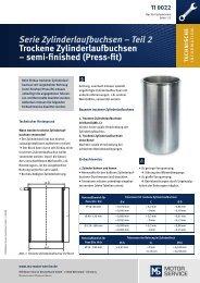 Serie Zylinderlaufbuchsen – Teil 2 Trockene ... - auf Hartje